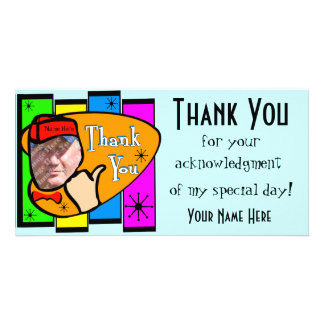 Retro Inspired Photo Thank You Card Custom Photo Card