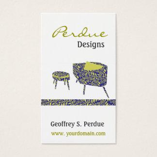 Retro Interior Design Home Decor Friendly Business Card