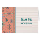 Retro Interview Thank You Card