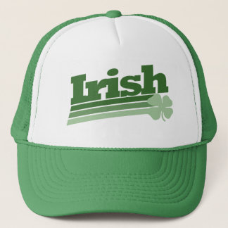 Retro Irish Shamrock Trucker Hat