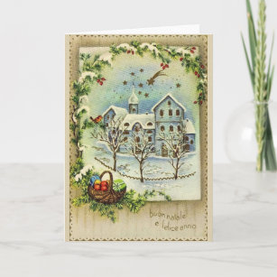 Vintage italian new year cards invitations zazzle retro italian christmas and new year card m4hsunfo