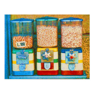 Retro Italian Colorful Nut Dispensers 1950s Style Post Cards