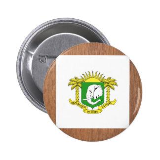 Retro Ivory Coast Flag 6 Cm Round Badge