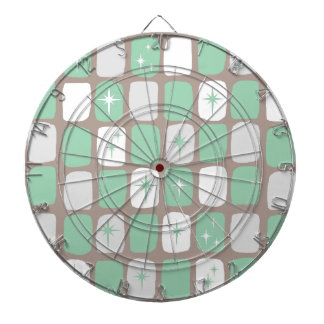 Retro Jade Starbursts Dart Board