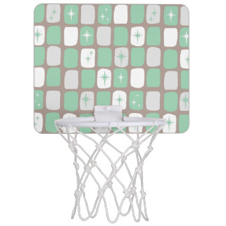 Retro Jade Starbursts Mini Basketball Goal Mini Basketball Hoop