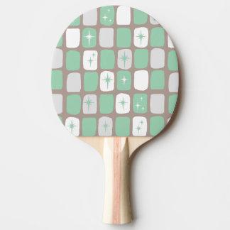 Retro Jade Starbursts Ping Pong Paddle