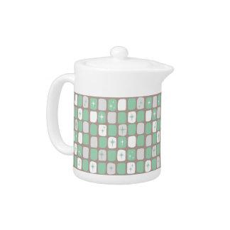 Retro Jade Starbursts Small Teapot