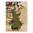 Retro Japanese Christmas Card
