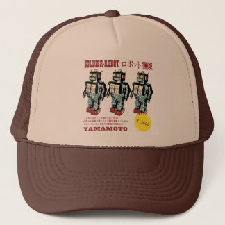Retro Japanese Toy Robot Advertisement Trucker Hat