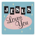 Retro - Jesus loves you Poster