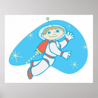 Retro Jet Boy Poster