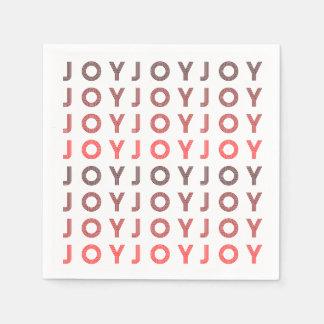 Retro Joy | Modern Holiday Napkin Disposable Napkin