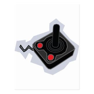 Retro Joystick - Video Games Gamer Gaming PC Postcard