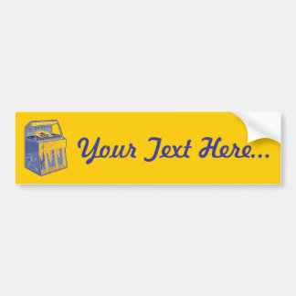 Retro Jukebox Bumper Sticker