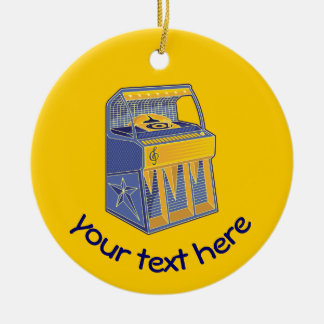 Retro Jukebox Christmas Ornament