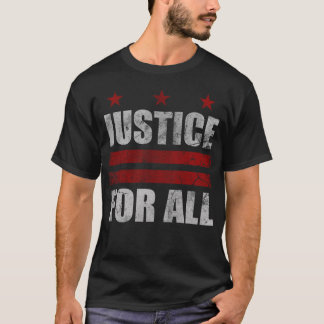 Retro Justice For All Washington D.C. Flag T-Shirt