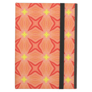 Retro Kaleidoscope Pattern in Orange and Yellow iPad Air Cover