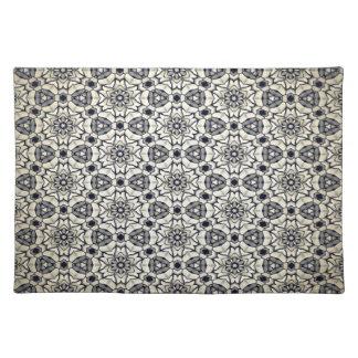 Retro kaleidoscopic pattern placemat