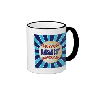 RETRO KANSAS CITY BASEBALL COFFEE MUG