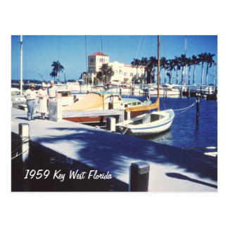 Retro Key West Florida Postcard