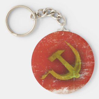 Retro Keychain with Dirty Old Soviet Union Flag