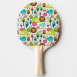 retro kids safari lion wildlife ping pong paddle