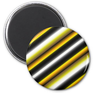Retro kind Deco touched in black-and-white yellow 6 Cm Round Magnet