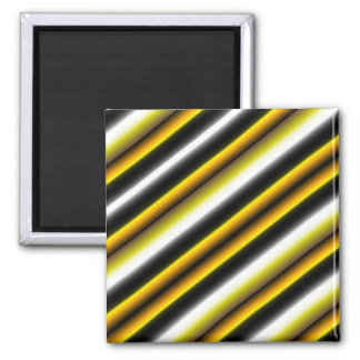 Retro kind Deco touched in black-and-white yellow Square Magnet