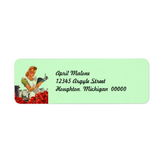 Retro Kitchen Canning Return Address Labels