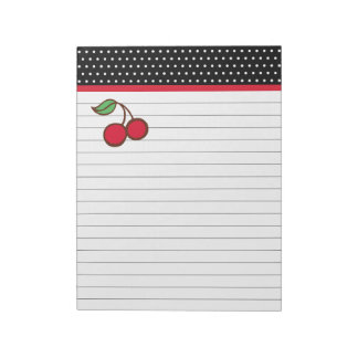 Retro Kitchen Cherry Grocery List Notepad Gift
