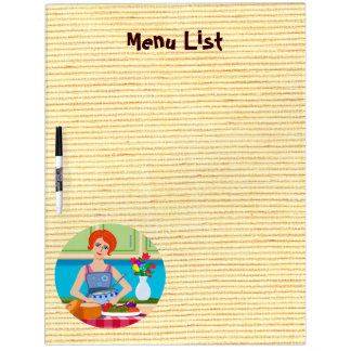 Retro kitchen dry erase board