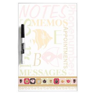 Retro Kitchen Memo Pad Dry-Erase Board