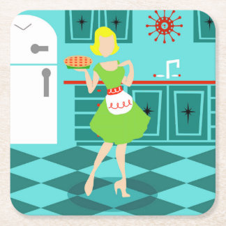 Retro Kitchen Paper Coasters