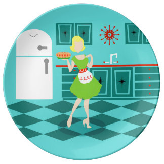 Retro Kitchen Porcelain Plate