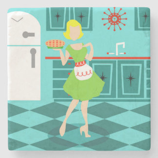Retro Kitchen Stone Coaster