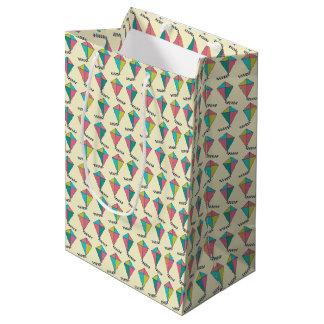 Retro Kite Pattern Medium Gift Bag