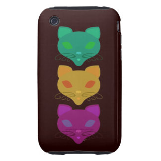 Retro Kitty Trio iPhone 3 Tough Cover