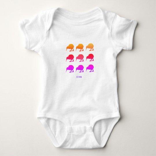 Retro Kiwis Aotearoa New Zealand Baby Bodysuit