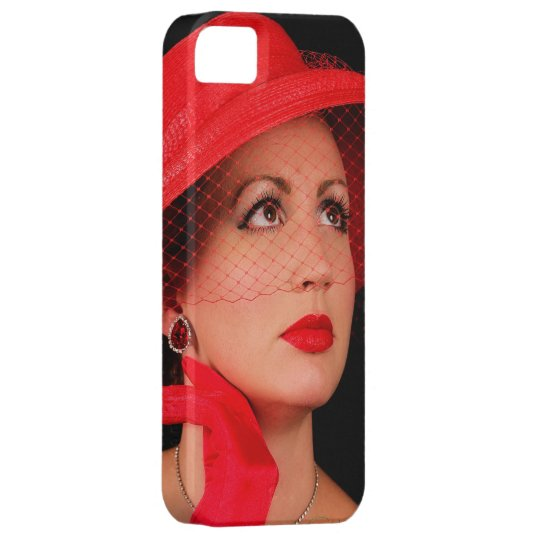 Retro Lady in Red Iphone5 iPhone 5 Cases