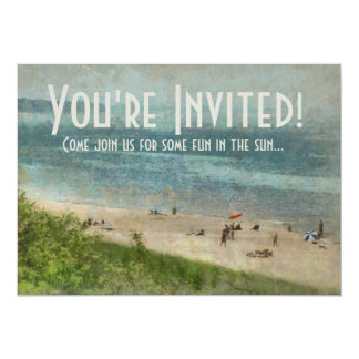 Retro Lake Michigan Beach Party Invitation