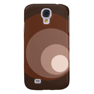 Retro Large Circles Brown Rust Taupe Cream Galaxy S4 Case
