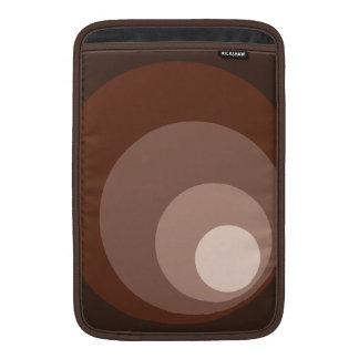 Retro Large Circles Brown Rust Taupe Cream MacBook Air Sleeve