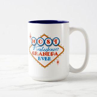 Retro Las Vegas Fabulous Grandpa Two-Tone Coffee Mug