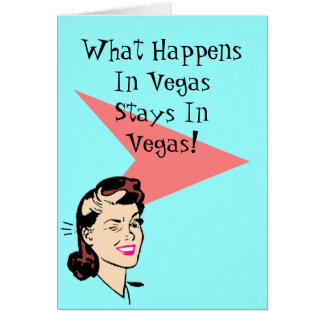 Retro Las Vegas Fun Wink Cards What happens stays