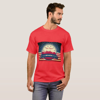 Retro Las Vegas Nevada Skyline T-Shirt