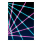 Retro Laser Beam School Portrait Photo Backdrop Poster