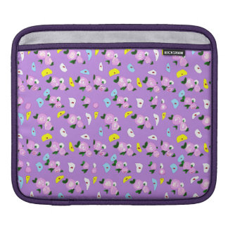 Retro Lavender & Pink Flowers iPad Sleeve Case