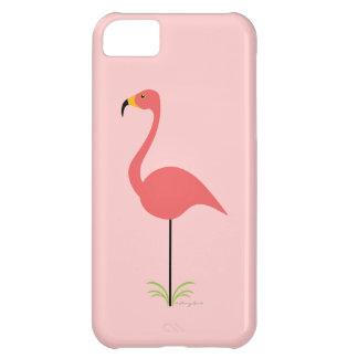Retro Lawn Flamingo with Customizable Background iPhone 5C Case