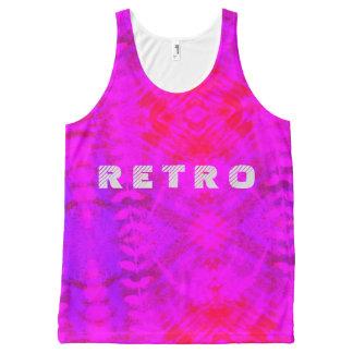 Retro leafy All-Over print tank top
