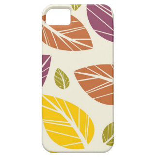 Retro leaves batik abstract chic nature pattern iPhone 5 cases